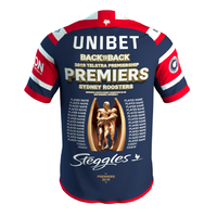 "Sydney Roosters 2019 NRL ""Back to Back"" Premiers Jersey (Adults + Kids Sizes)"