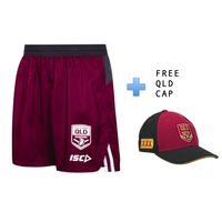 QLD Maroons NRL State of Origin Training Shorts + FREE CAP (S - 5XL)