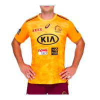Brisbane Broncos 2021 ASICS Official Training Tee in Gold (S - 3XL)