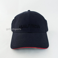 Nautica Contrast 6 Panel Dri Fit Cap in Navy/Red