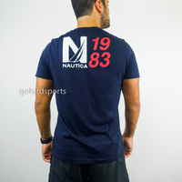 Nautica N Back-Graphic Tee in Navy