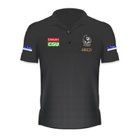 Collingwood Magpies 2019 AFL ISC Mens Players Polo (Sizes S - 3XL) *BNWT*