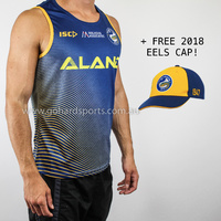 Parramatta Eels 2019 NRL Training Singlet  in Marine (Sizes S - 3XL) + FREE CAP!