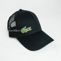 Lacoste Trucker Mesh Adjustable Cap in Black