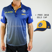 Parramatta Eels 2019 Men's Sublimated Polo (S - 5XL) + FREE CAP!